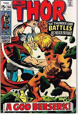 Thor #166 (1962) - 5.5 FN- *2nd Full Appearance Him/Warlock*