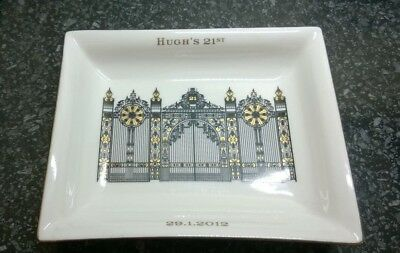 Vintage Hugh's 21st Fine Bone China Dresser / Trinket Tray Hand made in England