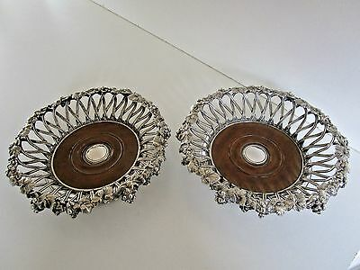 Pair Victorian Silver Plated Wine Coasters..Elkington, Mason & Co..Circa 1855..