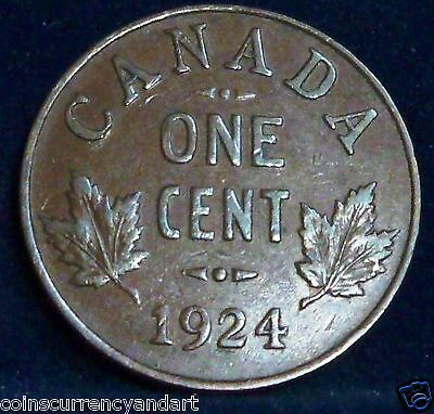 Canada 1924  Small Cent -FREE SHIPPING