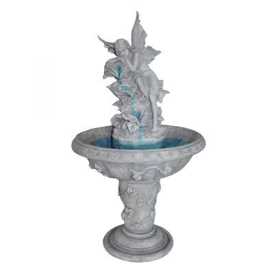 Water Fountain - Pixie Fairy Garden Decor Fountain - Outdoor Water Feature