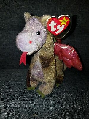 c7bd0618492 Ty Beanie Babies Scorch The Dragon 1998 Tag Errors