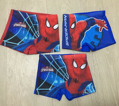 Assorted Spiderman Boys Toddler Kids Child Swim Shorts Swimmers Bathers Sizes