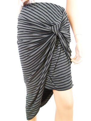 4ff792f7c Charlotte russe Womens USA Size XL Asymmetrical skirt rayon stripes brown