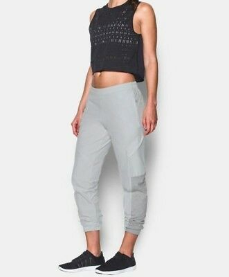 $100 Under Armour Womens The Next Cargo Joggers UA Slim Pants Gray Size Small