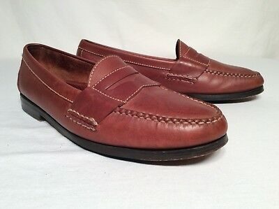 Cole Haan Driving Slip On Penny Loafer Leather Shoes Mens 11.5 D Light Brown