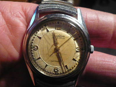 Tradition Vintage Wrist Watch 17 Jewels Swiss Made Incabloc  Running Cond.