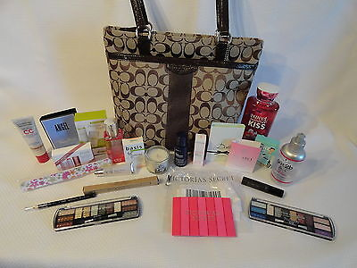 Coach Brown Logo Purse Swag Bag Victoria's Secret Bath & Body Works Elf Sephora