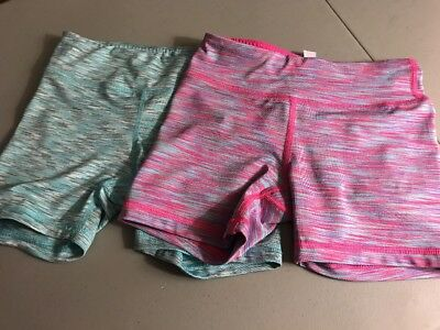 90 Degree By Reflex Girls Active High Performance Shorts Size 7-8 EUC