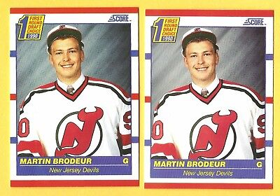 MARTIN BRODEUR 1990-91 Score hockey ROOKIE card lot New Jersey Devils NHL RC ***