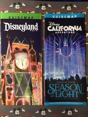 Disneyland Small World California Adventure Season of Light Park Map and Guide
