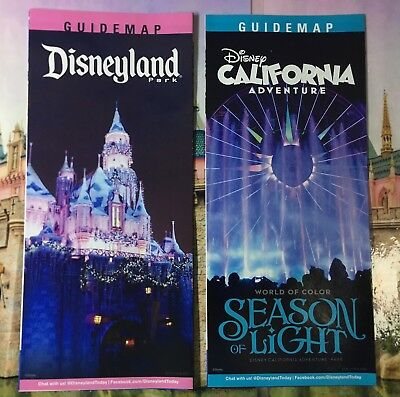 Disneyland Xmas Castle California Adventure Season of Light Park Map and Guide