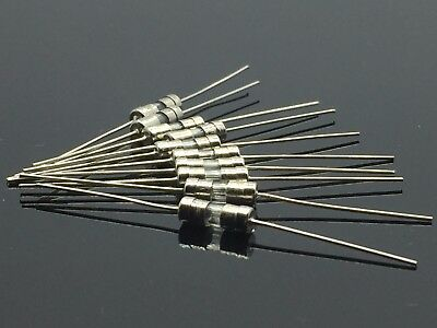 10PCS 250V 5A 5Amps Glass Tube Fuse Axial Leads 3.6 x 10mm F5A Fast Quick Blow