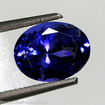 2,86 cts, TANZANITE NATURELLE AAA COLOR, CERTIFICAT  (pierres précieuses/ fines)
