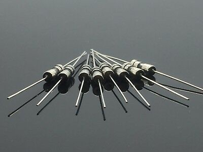 10PCS 250V 2A 2Amps Glass Tube Fuse Axial Leads 3.6 x 10mm F2A Fast Quick Blow