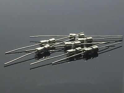 10PCS 250V 3A 3Amps Glass Tube Fuse Axial Leads 3.6 x 10mm F3A Fast Quick Blow