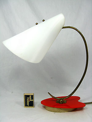 Beautiful 50´s stilnovo design table lamp in a rare shape / Schöne Tisch Lampe