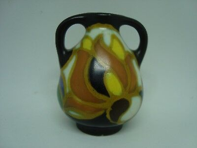 Vintage GOUDA MINIATURE Vase! 2 Inches tall. BEAUTIFUL!