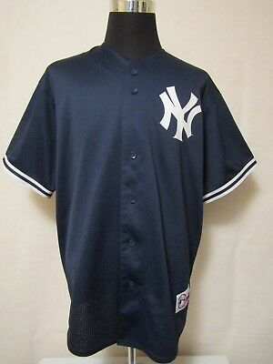 MLB New York Yankees #2 XL JETER 2003-06 Mesh Practice Baseball Jersey Majestic