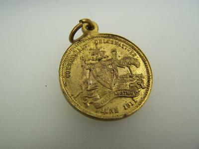Vintage 1911 medal George V Mary Australian Coronation celebration  2638