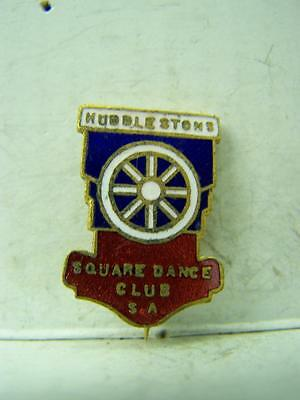 1960's Nuddlestons Square Dance Club enamel membership pin back badge 1088