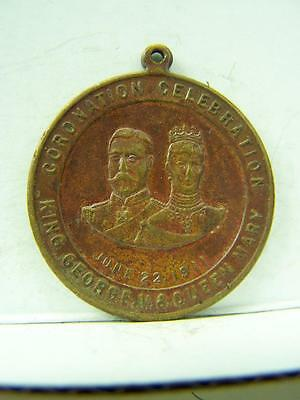 Coronation medallion King George V & Queen Mary June 1911          641