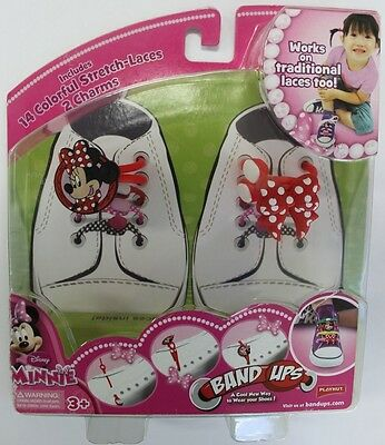 Disney Minnie Mouse Band Ups 14 Colorful Stretch-Laces and 2 Charms NIB