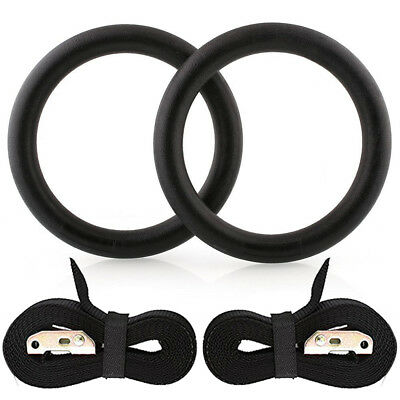 Gymnastic Olympic Crossfit Gym Rings Strength Training Pull Up Adjustable UK