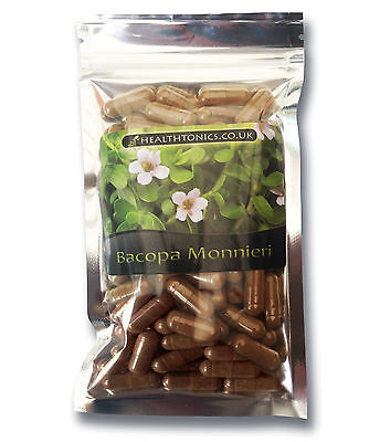 Bacopa Monnieri Extract, 400mg ( 10:1 ) , 30 - 90 Vegetarian Capsules