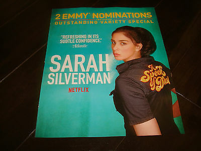 SARAH SILVERMAN 2017 Emmy ad for A Speck of Dust & UNBREAKABLE KIMMY SCHMIDT