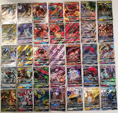 Pokemon TCG - Lotto 30 Carte originali genuine Cards con 1 GX + 1 EX + 2 Holo