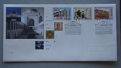 In Memory Of Those Who Served 1941 1991 Australia Post FDC First Day Cover