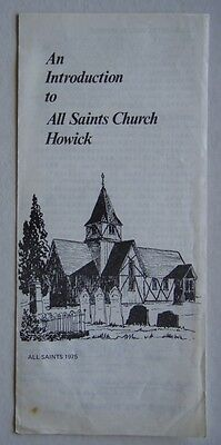 An Introduction To All Saints Church Howick 1975 Guide