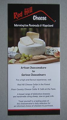 Red Hill Cheese Cellar In The Forest Prom Country Cheese Cellar & Cafe Brochure