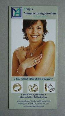 Anny's Manufacturing Jewellers 92 Young St Frankston Brochure