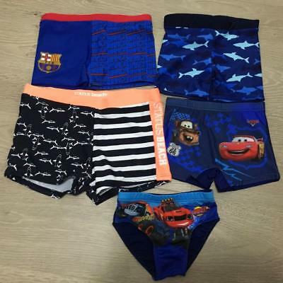 Assorted Boys Toddler Kids Child Children Swim Shorts Swimmers Bathers Cars