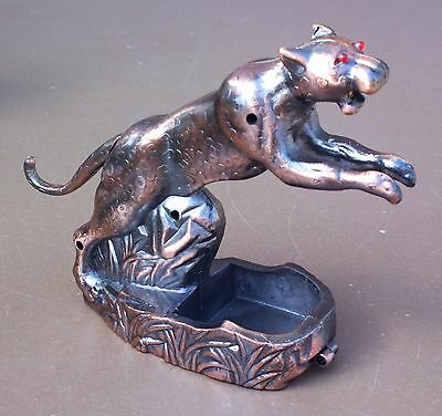 Briquet de table à gaz régule JAGUAR animal vintage ancien déco collection
