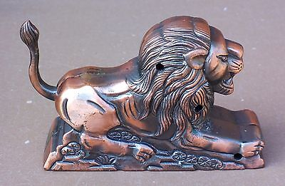 Briquet de table à gaz régule LION animal vintage ancien déco collection