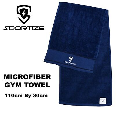 Microfiber Terry/Velour Gym Towel Sport Footy Travel Camping Swimming Drying
