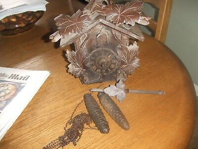 Vintage Wooden CucKoo Clock  made in Germany spares or repair