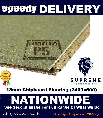 18mm Chipboard Flooring T&G Moisture Resistant 2400x600 Multiple Quantities