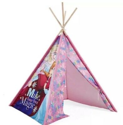 New Frozen Elsa Anna Or Cars MqQueen Teepee Wooden Pole Tent Kids