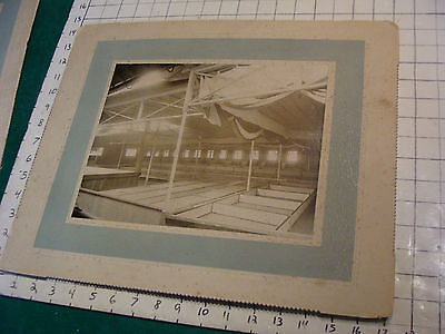 large Early Mounted Japanese PLAY PHOTOGRAPH, theatre, cool or is it a Temple #3