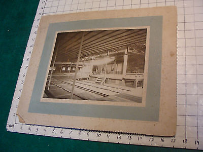 large Early Mounted Japanese PLAY PHOTOGRAPH, theatre, cool or is it a Temple #4