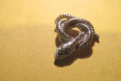 Pewter Coiled  Snake   Figurine