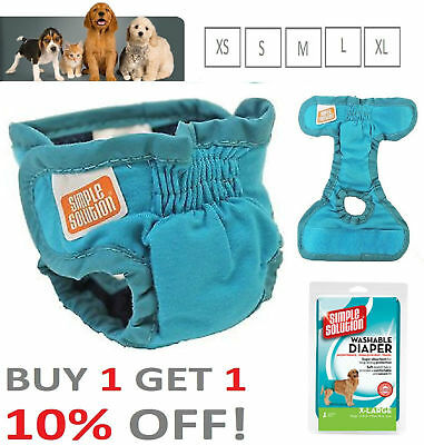 Simple Solution Washable Dog Nappy Incontinence Travel Diaper XS, S, M, L, XL