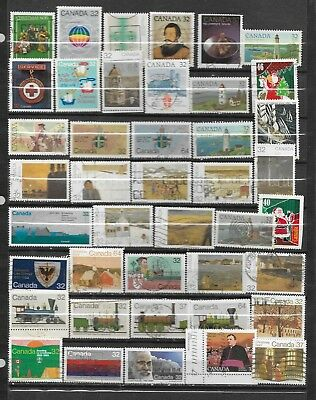 pk32816:Stamps-Canada Lot of  42 Assorted Commemmorative Issues - used