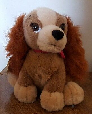 """Disney Store 7.5"""" Sitting Lady Pup Plush Doll New With Tag Lady And The Tramp"""