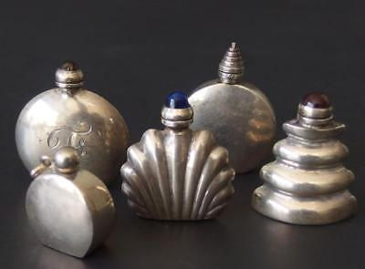 COLLECTION STERLING MINIATURE PERFUME BOTTLES Lot 26