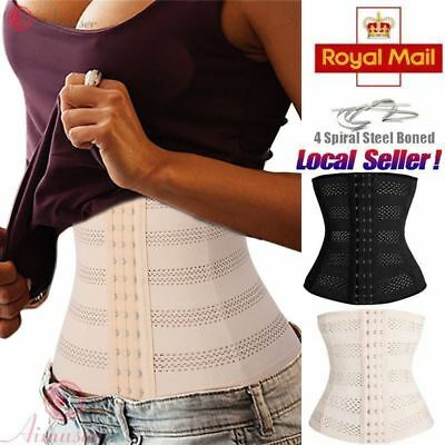 UK Slimming Body Waist Shaper Training Trainer Tummy Tight Cincher Girdle Corset